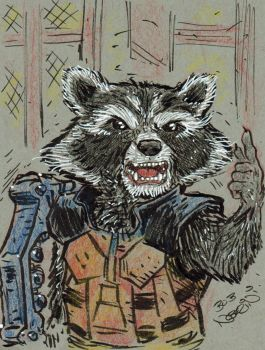 Rocket Raccoon by StubbedToe