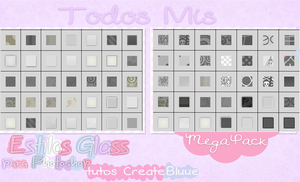 Todos Mis Estilos Glass Para Photoshop by TutosCreateBluue