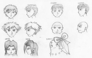 Drawing faces by kalistina