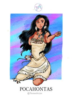 Disney Girl Challenge 25: Pocahontas by ThemawtArcsion