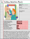 Caillou Watches Rosie Notepage by Duckyworth
