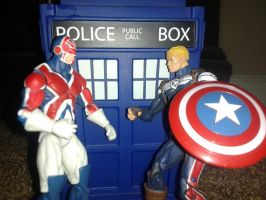 Two Captains and a TARDIS by hntr0829