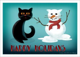 Cat Christmas Card by 7scout7