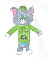 Kid Tom wearing a GO GREEN shirt by dth1971
