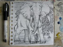 Elephant by phantasmicandra