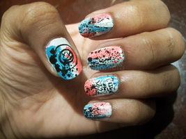 Blink 182 Nails by Shi-Cake
