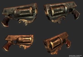 Steampunk Handgun by Cyphris