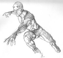 Daredevil rough for painting by Meador
