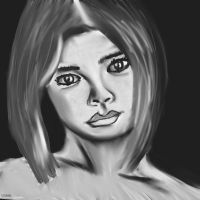 Woman face study n66 by lv888
