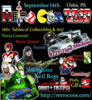 Retro Con Flyer 2013 by Scream01
