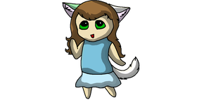 Attempt at a chibi (Fail :c) by Hollygoesmeow