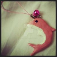 Pink Dolphin Cell Charm by sakurablossom143