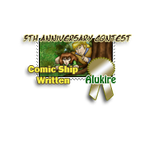 5th Anniversary Contest Stamp - Comic Ship Written by girl-n-herhorse