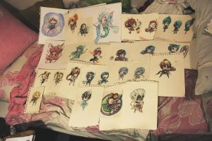 A Blurry Picture of My Chibi Babies by jejejeca