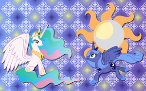 Luna and Celestia wallpaper 5 by AliceHumanSacrifice0