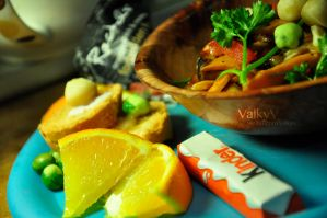 Sour and Spicy Stir Fried Sweet Potato by ValkyV
