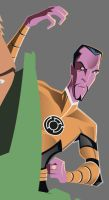 Superfriend Detail - Sinestro by AndrewJHarmon