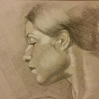 Charcoal drawing 129 by Dahsart