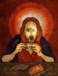 Christ with Sandwich by The-Mirrorball-Man