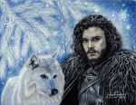 Jon Snow and Ghost by Artsy50
