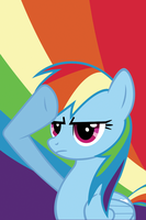 Rainbow Dash Salute iPhone by aarocka