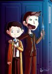 Castiel And The Doctor by K-a-o-r-i