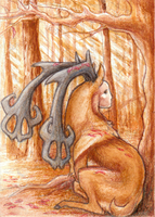 Silence of the Forest -ACEO- by Naragon