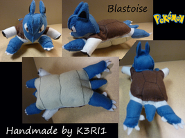 Blastoise Plush by K3RI1