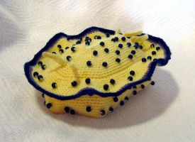 Blue Spotted Yellow Nudibranch by TheSeaKnight