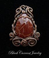 Fire Agate and Copper by blackcurrantjewelry