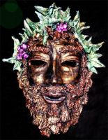 Dionysus Clay Mask by El-Sharra
