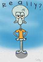 Squidward. Really. REALLY. by catz537