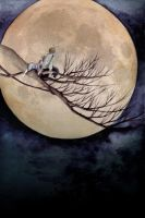 """O TSU KI MI"" -viewing the moon- by K-Hiroko"
