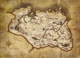 The Skyrim Map by Aazdremzol