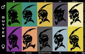 Guyver silhouettes  M and F by Lucithea