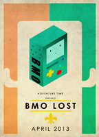 Adventure Time : BMO Lost poster by CravingSquidBlood