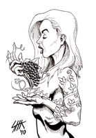 Poison Ivy with Grapes by Captroop