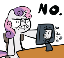 Sweetie Belle - No by Ocarina0fTimelord