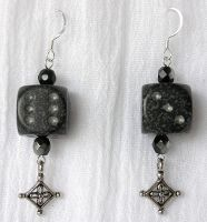 Ninja d6 Earrings by lavadragon