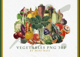 Vegetables Pack02 Png by MISS-K611