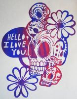 Sugar Skulls T-shirt design by PlaidZebra
