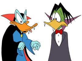 Quackula and Count Duckula by tvfunnyman