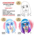 Commissions - Styles and prices by fabianfucci
