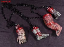 Rot Tot Necklaces -zombie- by Undead-Art
