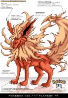 Pokedex 136 - Flareon FR by Pokemon-FR
