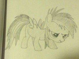 Scrunchy Face Filly Rainbow Dash by HeyApplejack
