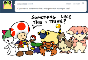 Ask Toad - Pokemon? by pocket-arsenal