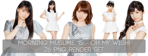 Morning Musume.'15 - Oh my wish! 26 PNG Render Set by Supadackles