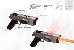 Nuclear Pistol Concept: Phase 4 by Cerberust