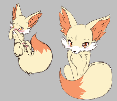 Fennekin's all sketchy by TheNekoStar